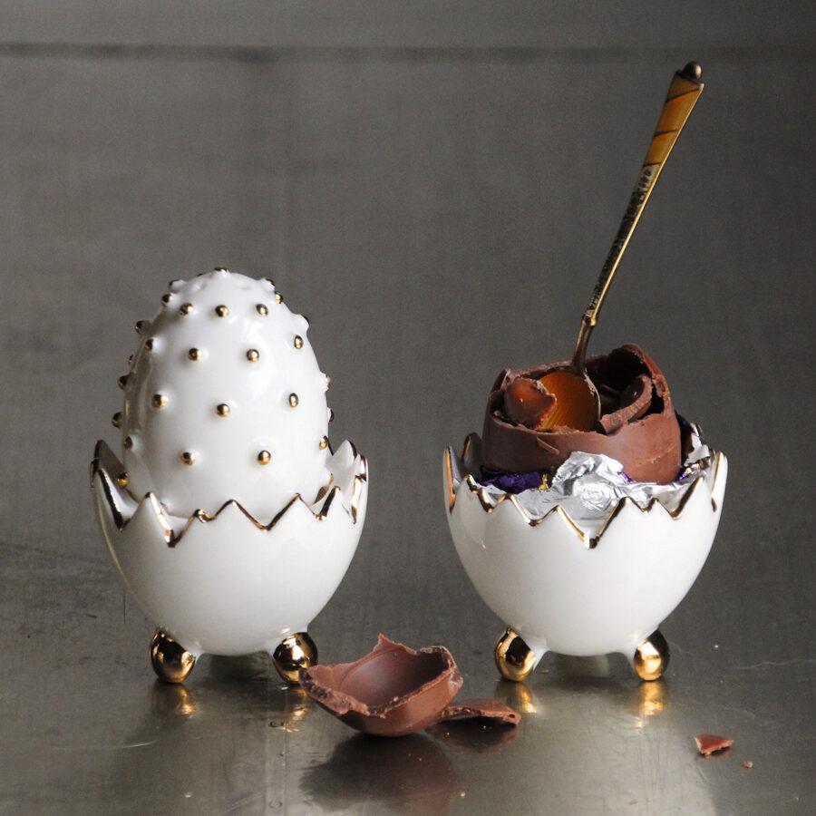 Porcelāna olas - sāls un piparu trauku komplekts