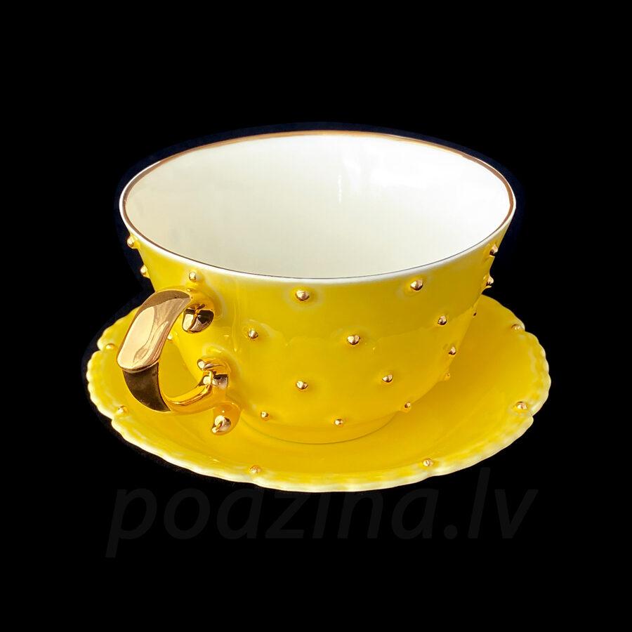 Kafijas tase dzeltena 180ml