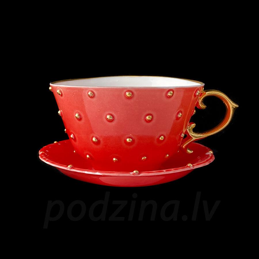 Kafijas tase sarkana 180ml