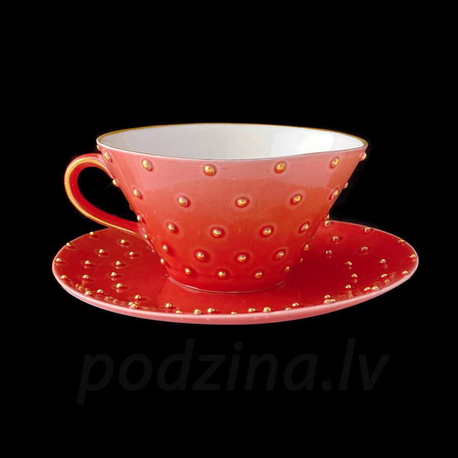 Tējas tase sarkana, 250ml
