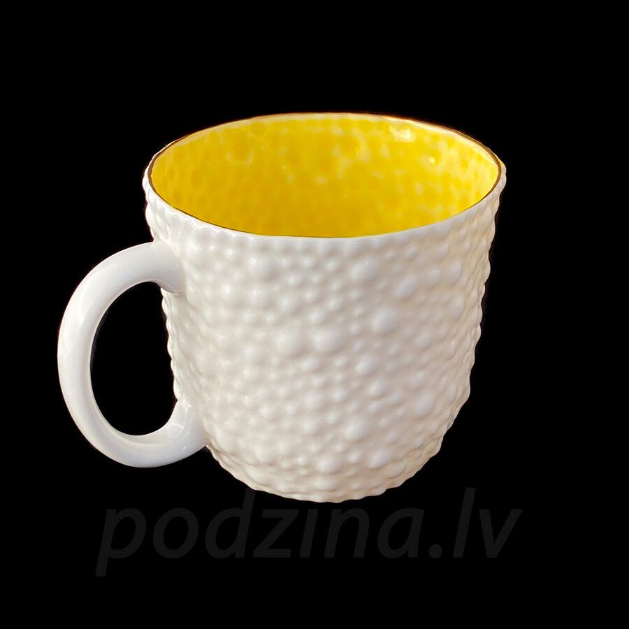 Porcelāna burbuļkrūze ar krāsaino iekšiņu 350ml