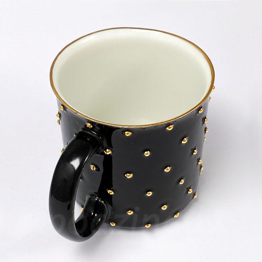 Melna porcelāna krūze, 300ml