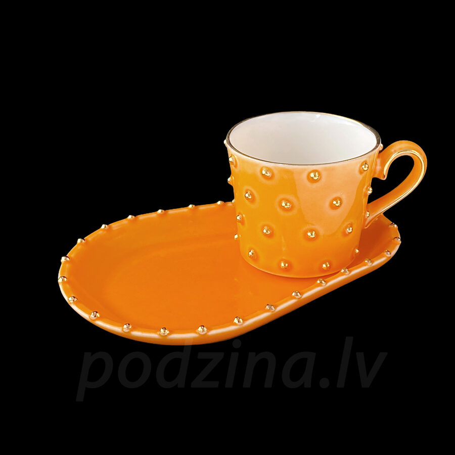 Oranžā espresso tasīte