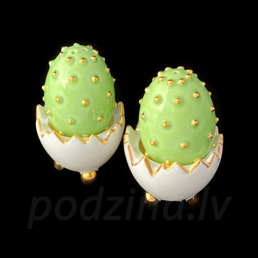 Porcelāna krāsainas olas - sāls un piparu trauki