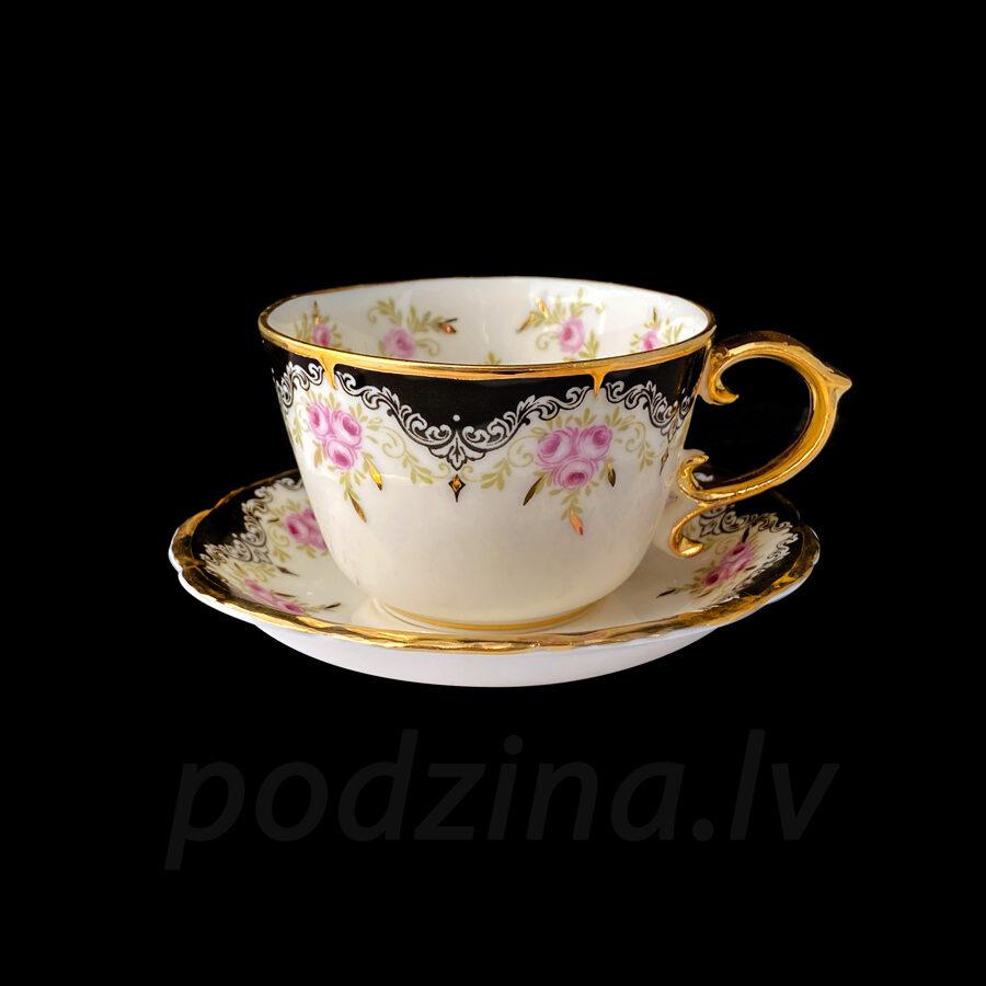 Vintāžā kafijas tasīte ar rozītēm 150ml