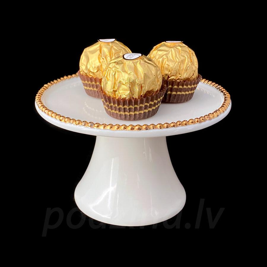 Saldumu trauciņš ar zelta vai platīna krellītēm