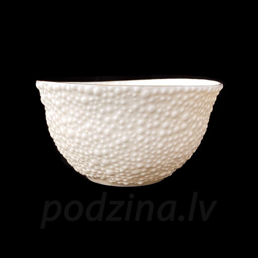 Porcelāna burbuļbļoda ar zelta maliņu