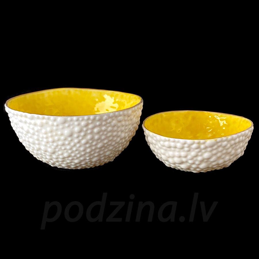 Porcelāna burbuļbļodiņu komplekts, dzeltens