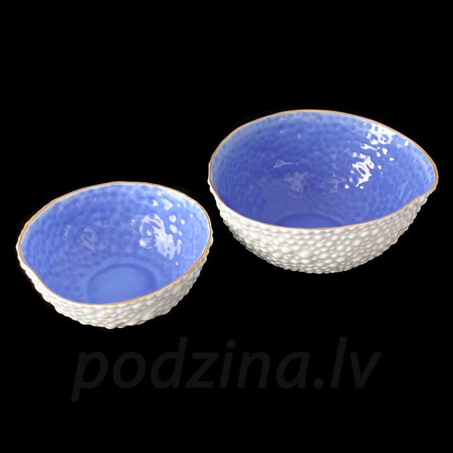 Porcelāna burbuļbļodiņu komplekts, zils