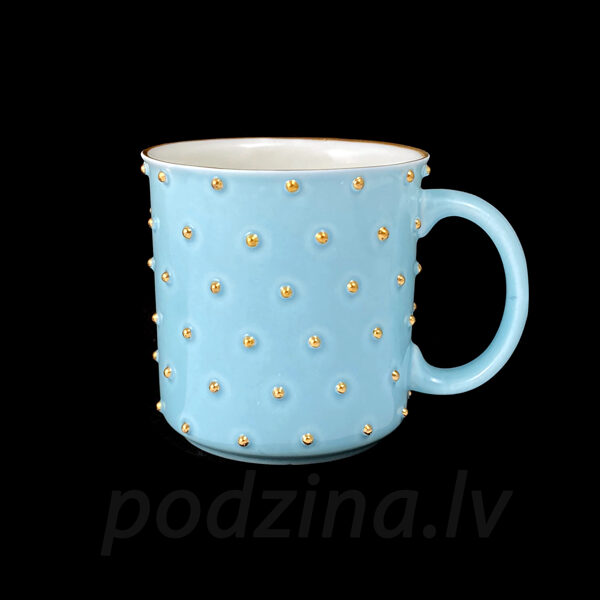 Gaiši zila porcelāna krūze, 300ml