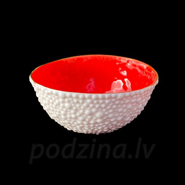 Porcelāna burbuļbļodiņa ar sarkanu iekšu